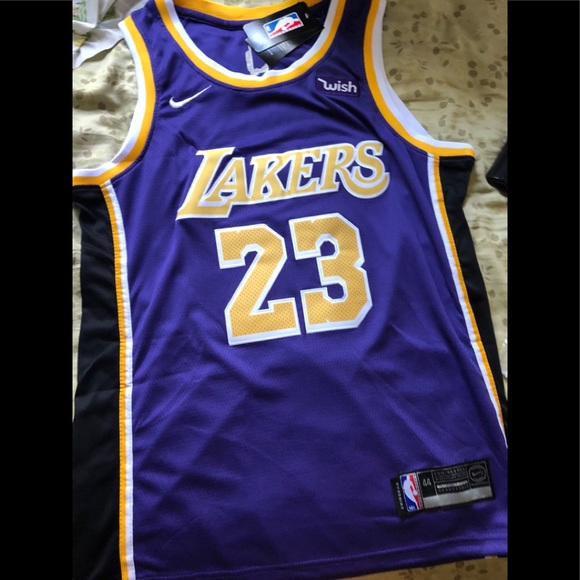 "c8a703450feb Lebron James Lakers 2018-2019 purple ""icon"" jersey"
